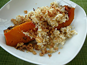 Quinoa and Rice Squash and Onion Crunch